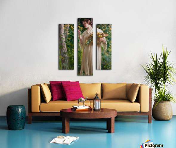 Lady in forest Impression sur toile