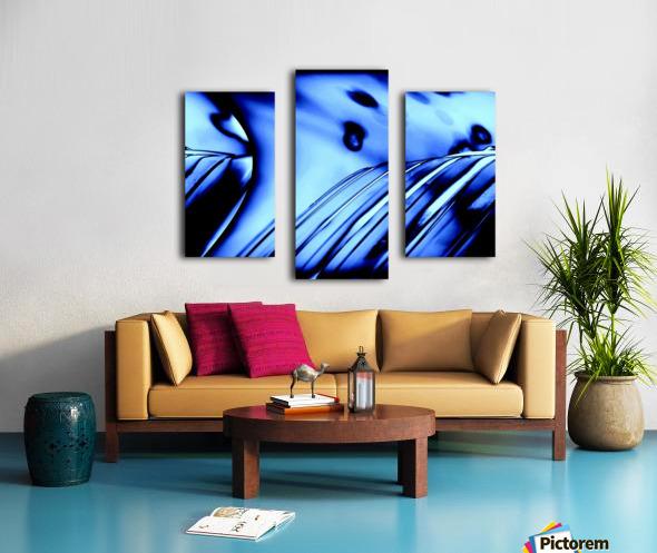 Aqua Blue Canvas print