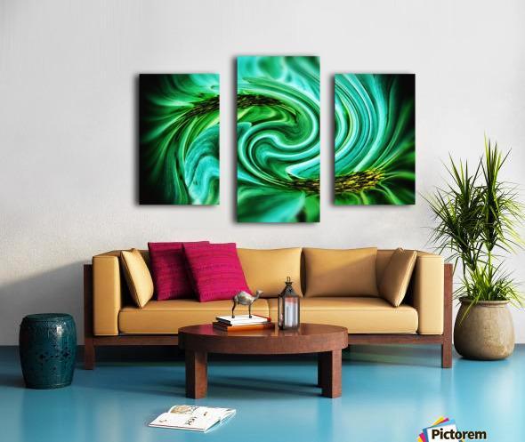 Flower Swirl Canvas print