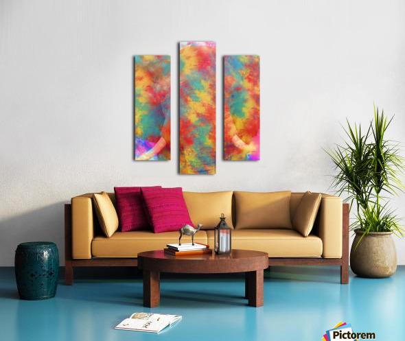 Abstract Elephant Canvas print