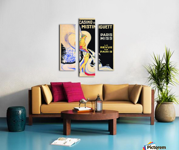 Casino De Paris Mistenguett vintage poster Canvas print
