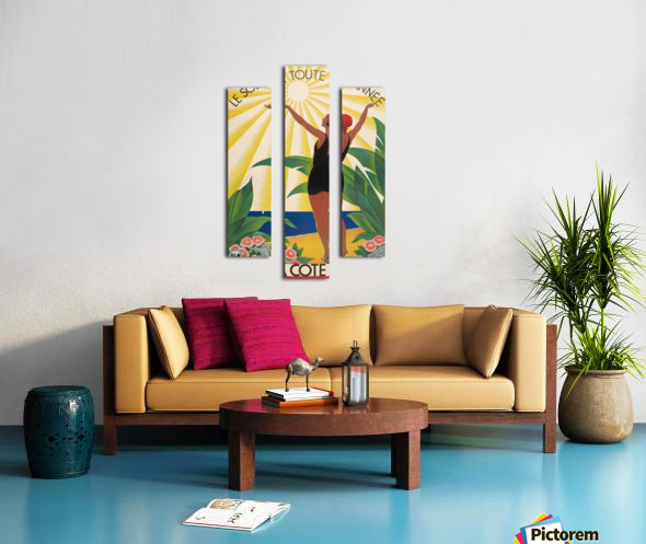 Sun All Year On the Cote dAzur poster in 1931 Canvas print