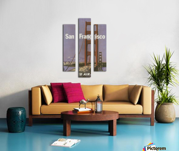 United Airlines Poster for San Francisco Canvas print