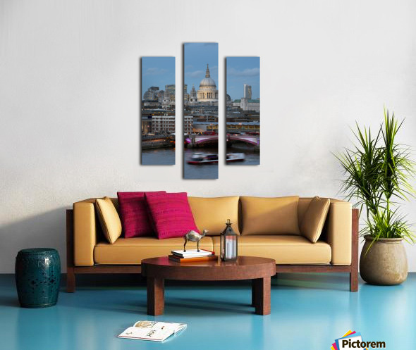 St. Paul's Cathedral and Blackfriars; London, England Canvas print