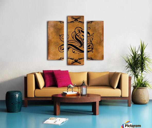 Beautiful Monogram Letter L Canvas print