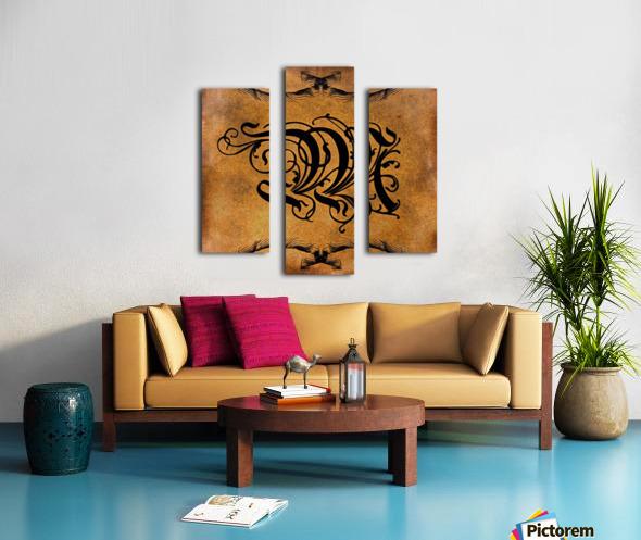 Beautiful Monogram Letter M Canvas print