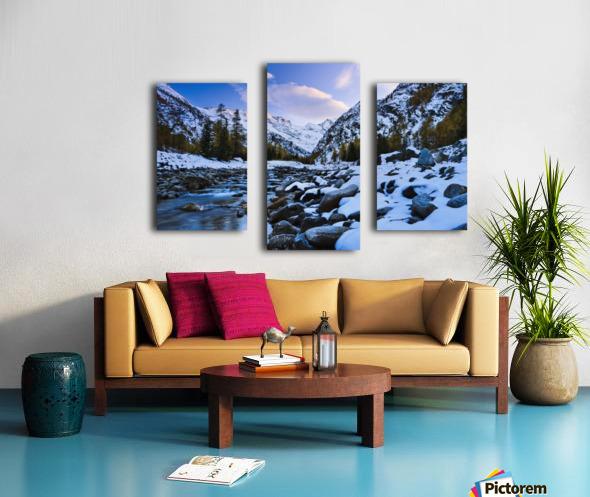 Valnontey torrent, Gran Paradiso National Park; Italy Canvas print