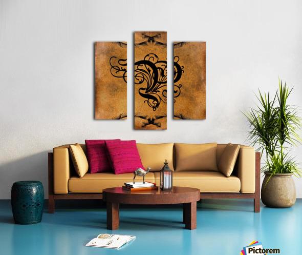 Beautiful Monogram Letter P Canvas print