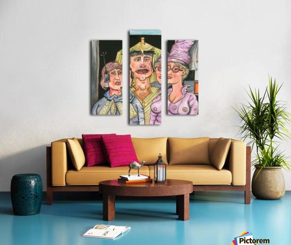 The Gluxx family Canvas print