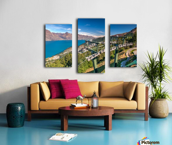 Towering over Lake Wakatipu Canvas print