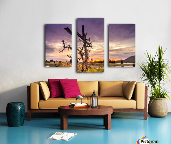 Crusifix on the cross Canvas print