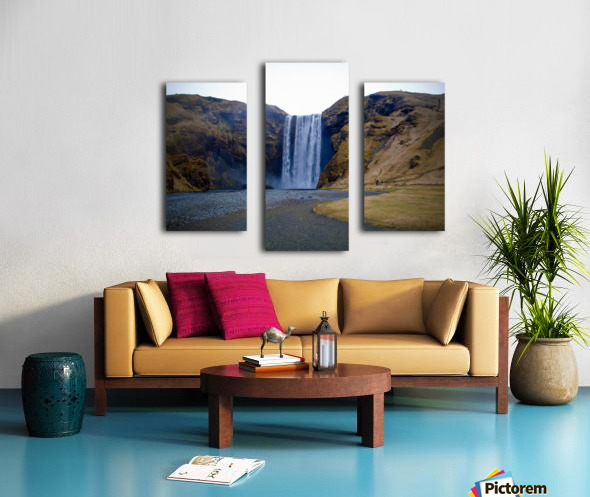 Iceland waterfall Canvas print
