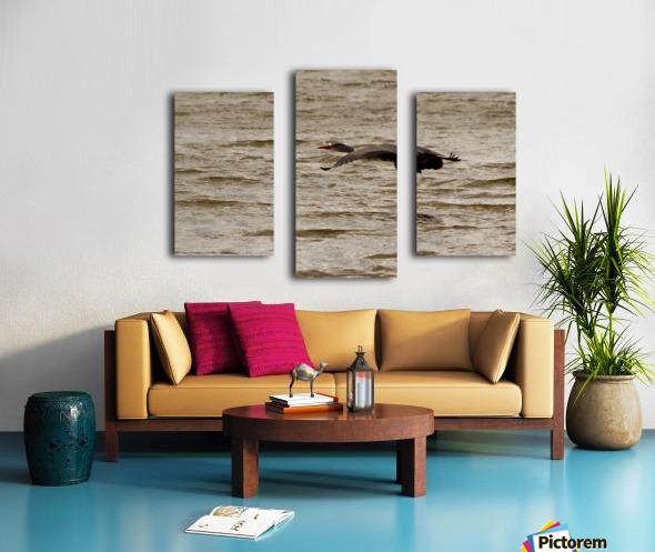 Heron flight Canvas print