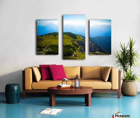 Alpine views Canvas print
