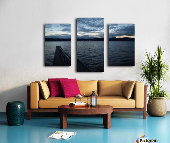 Dusky Dock on Champlain  Canvas print