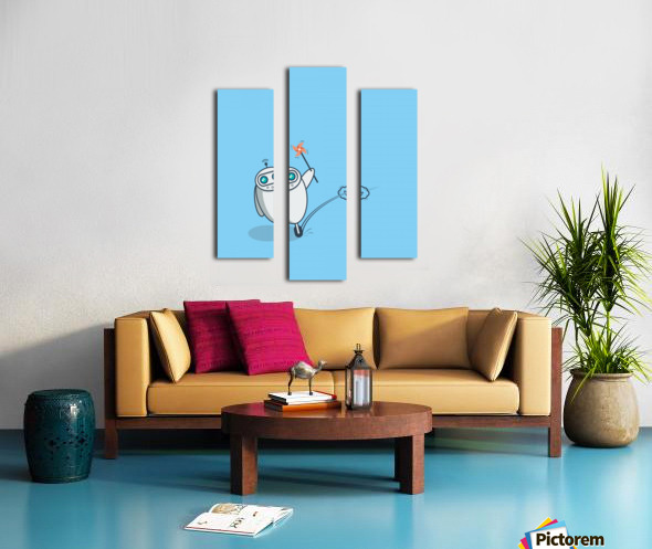 PLayful Robot Canvas print