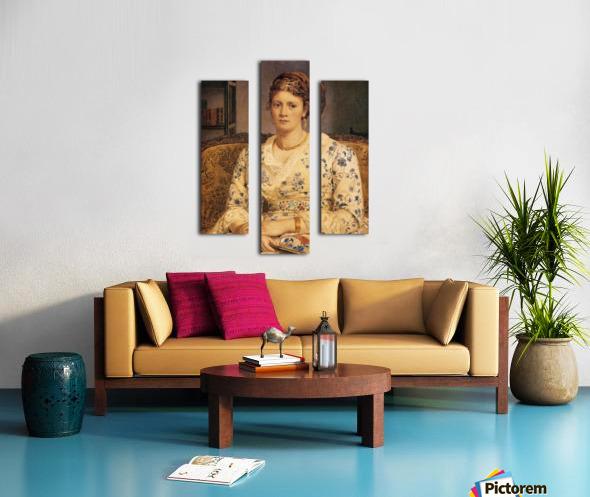 Portrait of Mrs J P Heselitine Canvas print