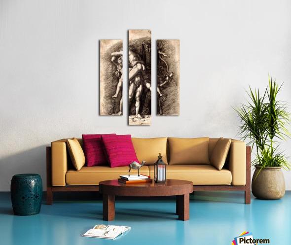 Hercules and Antaeus Canvas print