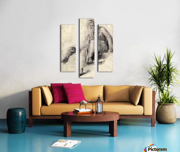 Saint Jerome Reading with the Lion Canvas print