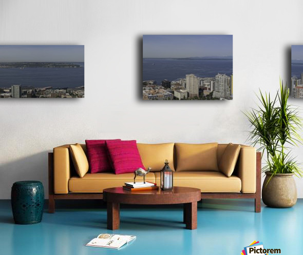 Westward Seattle Panoramic Canvas print