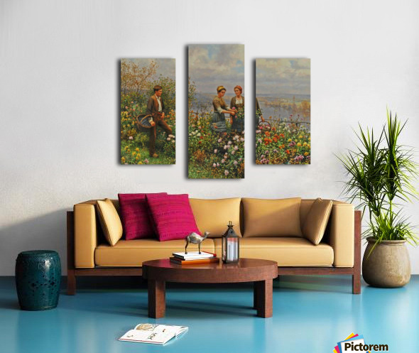 People in the garden Canvas print