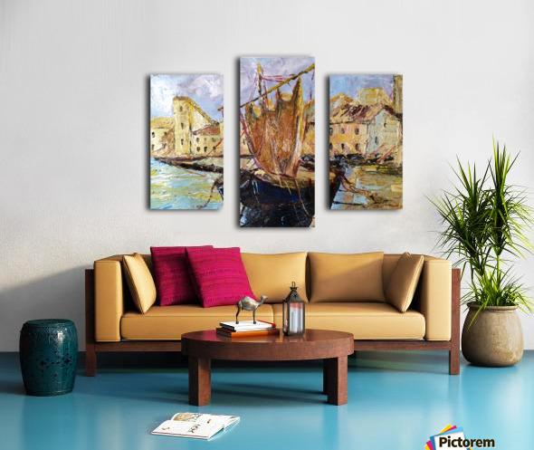 Il Mediterraneo come era una volta Canvas print