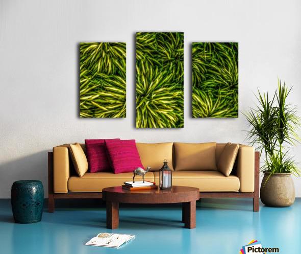 Green Chaos Canvas print