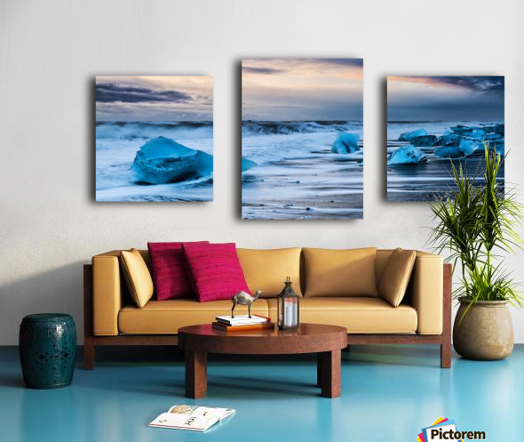 Ice Beach, Iceland Canvas print