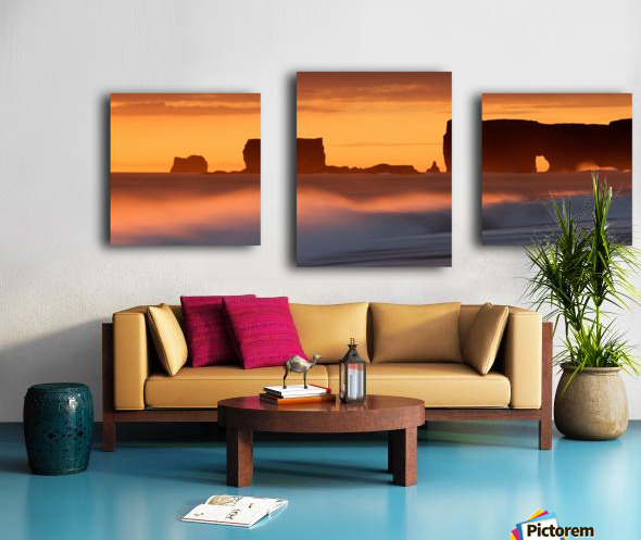 Vik Sunset, Iceland Canvas print