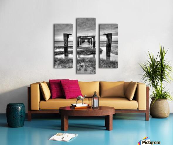 Derelict Pier Canvas print