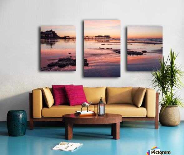 Pier Sunset Canvas print