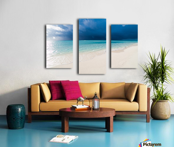 Amazing beach in Maldives, summer travel Canvas print