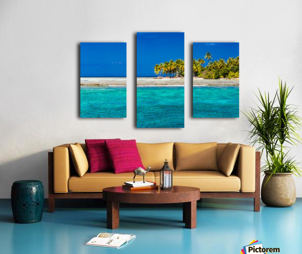 Tropical island background Canvas print