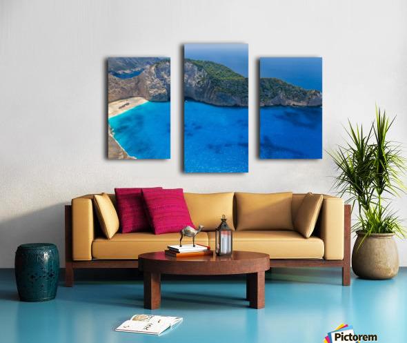 Navagio beach with shipwreck on Zakynthos island in Greece Canvas print