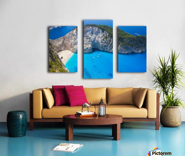 Amazing Navagio Beach in Zakynthos Island, Greece Canvas print
