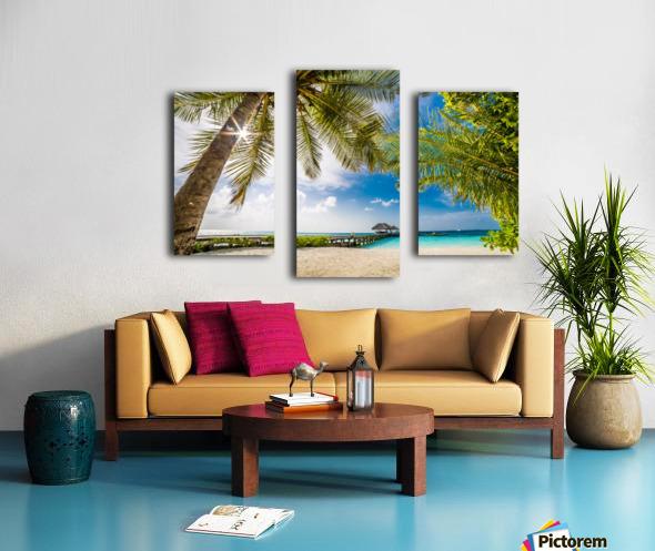 Palm and tropical beach Canvas print