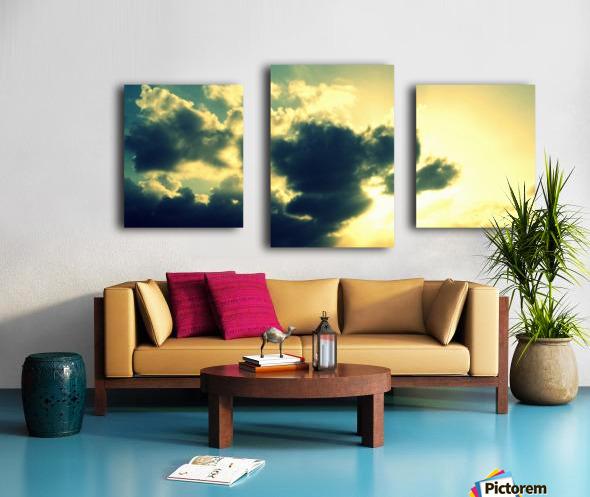 Old sky Canvas print