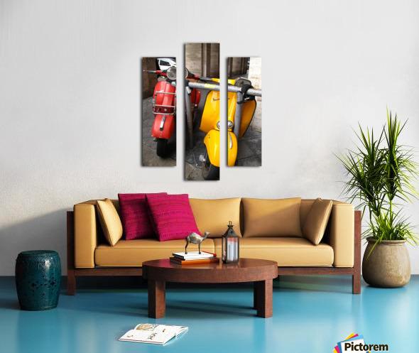 Scooter Buddies Canvas print