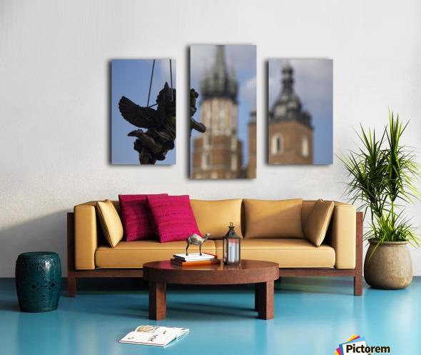 Cherub Silhouette Canvas print