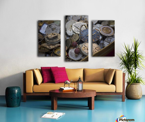 Pile of Old Time Canvas print