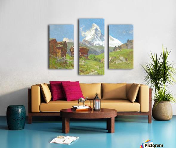Matterhorn seen from Winkelmatten Canvas print