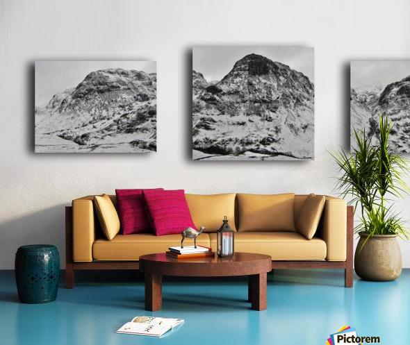 The Three Sisters, Glencoe Canvas print