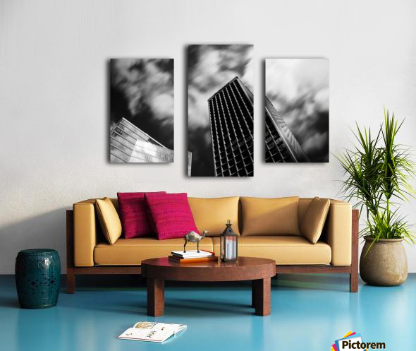 Black and white tower Canvas print