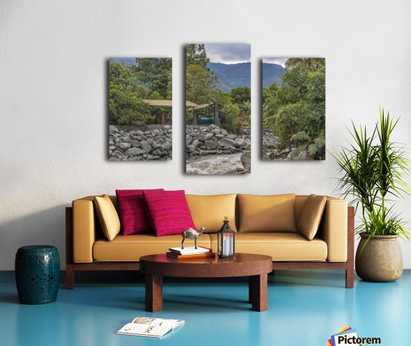 Pastaza River and Leafy Mountains Ecuador copia Canvas print