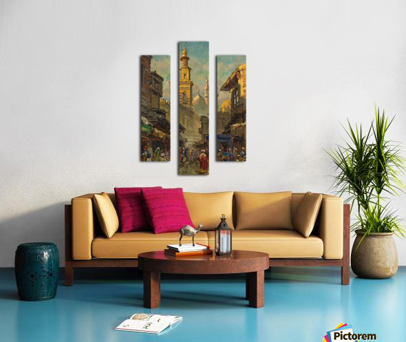 Oriental street scene Canvas print