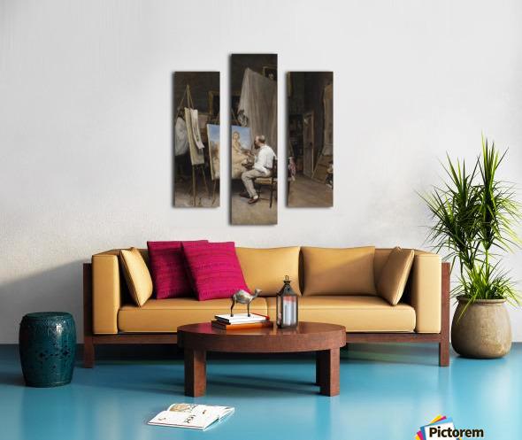 Le peintre dans son atelier Canvas print