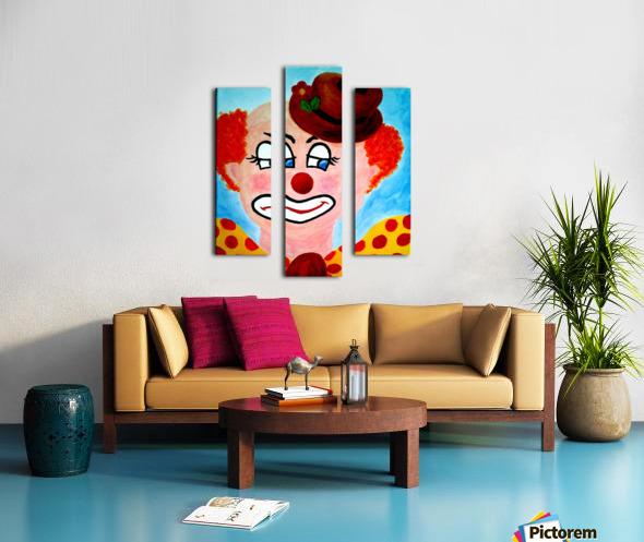 Masker, The sad Clown Canvas print