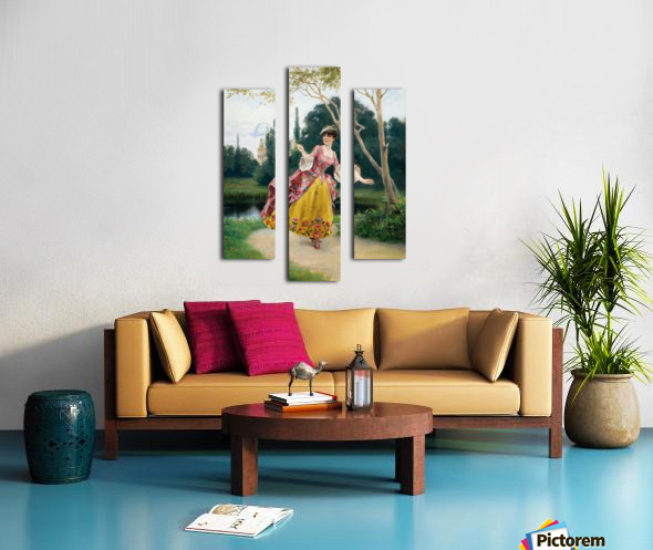 Outside the palace Canvas print