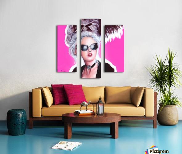 Marie Antoinette inspired art Canvas print
