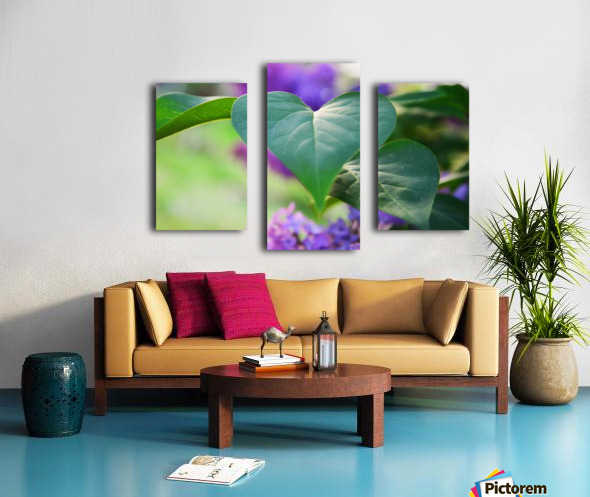 Lilac hearts Canvas print